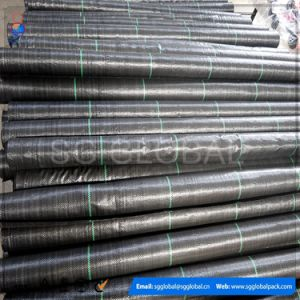 3.5oz UV Treated Black Agricultural PP Woven Weed Control Fabric pictures & photos