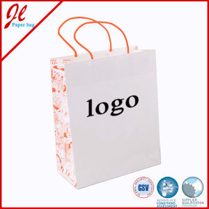 Customized Colorful White Kraft Paper Bag for Garment pictures & photos