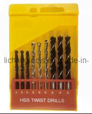 9PCS HSS Twist Drill Bit Set with Plastic Package pictures & photos
