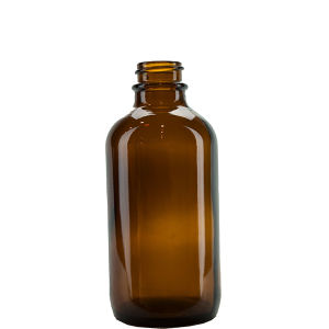 4 Oz 120ml Amber Boston Round Glass Bottle with Glass Dropper pictures & photos