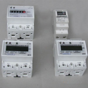 230V LCD Modbus Kwh/Kvarh DIN Rail Single Phase Energy Meter pictures & photos