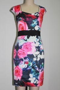 Ladies Flower-Print Dress (1-025-55)