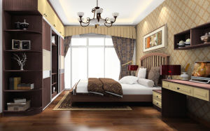 2017 Fashion Bedroom Furniture-Wardrobe Cabinet and Bed Set (zy-011) pictures & photos