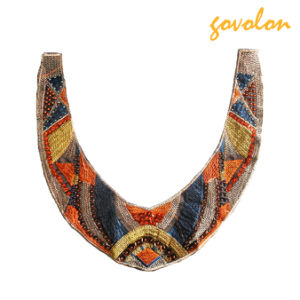 New Handmade Colorful Embroidery Neckline Decorated with Acrylic Beads pictures & photos
