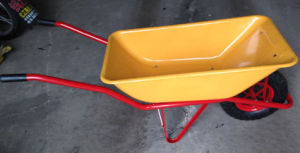 Concrete Wheel Barrow for Loading Sand pictures & photos