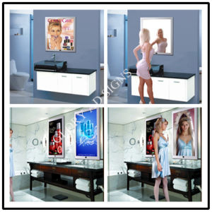 Bathroom LED Sensor Mirror/Motion Sensor LED Advertising Magic Mirror pictures & photos