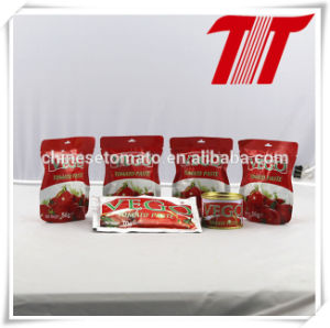 Double Concentrated and Organic Vego Sachet Packaging Tomato Paste for Africa pictures & photos