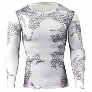 Mens Camouflage Compression Shirts Skin Tight Thermal Under Long Sleeves Crossfit Exercise Workout Fitness Sportswear pictures & photos