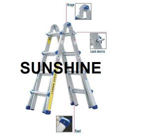 Telescoping Extension Ladder, Aluminium Folding Ladder with En131, Asnzs pictures & photos