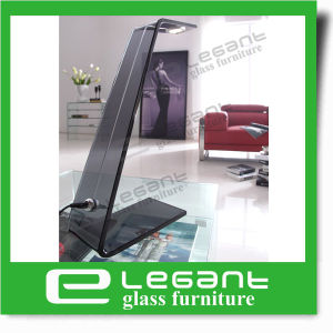 Grey Bent Glass Table Lamp with 3W LED Light pictures & photos