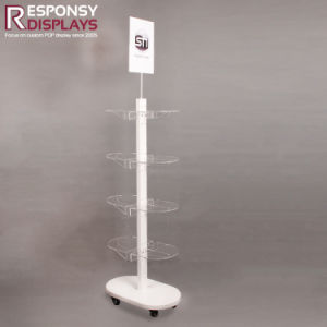 Floor Metal Beverage Display Stand with 8 Acrylic Pockets pictures & photos