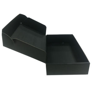 Custom Black Clothes T-Shirt Packaging Boxes with Logo pictures & photos