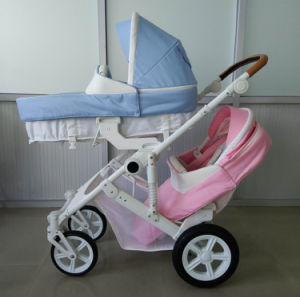 New Design Luxury Fold Twin Baby Stroller with European Standard pictures & photos