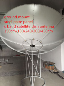 150 180 240 300 400 450cm 1.5 1.8 2.4 3 3.7 4 5m 4 6 8 10 12feet C Band Satellite HD Parabolic Paraboloid Steel Fiber Iron Solid TV Digital HD Dish Antenna pictures & photos