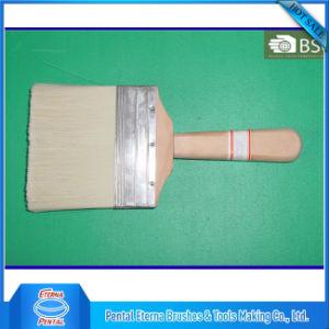 White Bristle Plain Wooden Handle Paint Brush pictures & photos