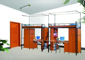China Cheap Dormitory Bed with Table and Cabinet pictures & photos