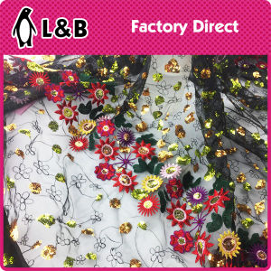 Embroidery Mesh Lace /Tulle Embroidery Flower Lace pictures & photos