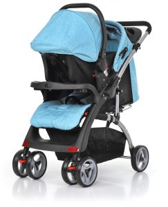 European Standard Luxury Fold Baby Pram with Car Seat pictures & photos