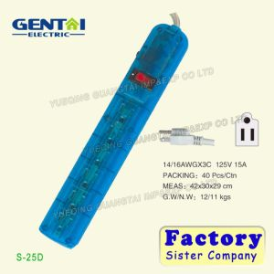 Factory Offered 6 Outlet Multi Function Energy Saving Power Strip pictures & photos