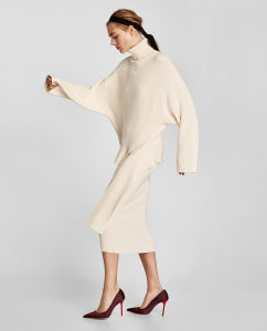 Fashion Style Winter Woman Wool Sweater Dress (RS-034) pictures & photos