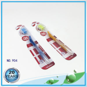 PS Handle with Tongue Cleaner Colorful Bristle Toothbrush pictures & photos