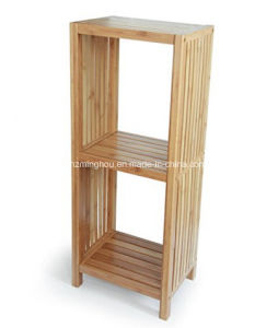 Freestanding Organizing Wooden Bathroom Rack 2 Tier pictures & photos