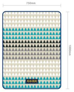 Promo Blanket/100% Polyester Printed Fleece Blanket with Geometric Figure pictures & photos