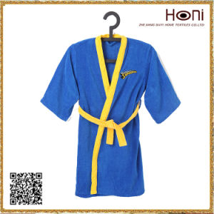 D-001 100 Cotton Kids Sleeveless Bathrobe with Belt pictures & photos