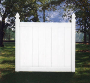 Water Resistance White Vinyl Privacy Fence Panel pictures & photos