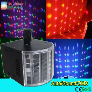 High Power DMX512 6*3W Mini LED Butterfly Stage Light LED Derby Light Rgbywp Mini LED Super Arrow Light pictures & photos