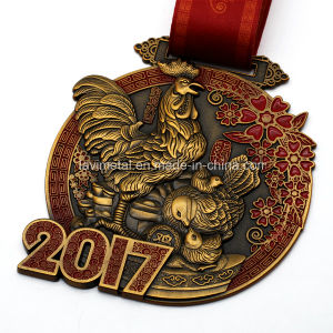 Factory Price Custom 3D Antique Gold Metal Medal pictures & photos