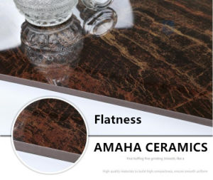 Foshan Tile Building Material Full Body Light Polished Glazed Porcelain Floor Tile Chocolate (BMG17P) pictures & photos