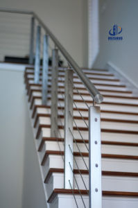 Indoor Stair Steel Wiring Balustrade pictures & photos