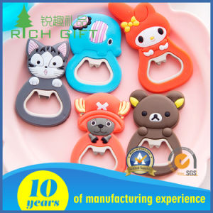 Soft PVC Bottle Opener with Cartoon Figure Design pictures & photos