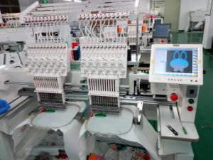 2017 New 2 Head Embroidery Machine with Free Wilcome Software pictures & photos