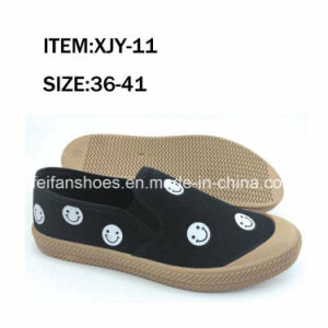 Newest Solid Women Injection Canvas Footwear Leisure Shoes (FFXJY-25) pictures & photos