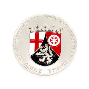 Promotional Enamel Silver Challenge Coin pictures & photos