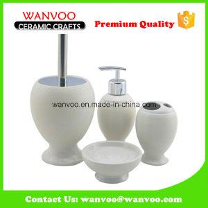 Fine Porcelain Lotion Dispenser Cup Bathroom Accessories Set pictures & photos
