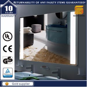 Wall Hanging Hotel Project Bathroom LED Lighting Mirror with Demister pictures & photos