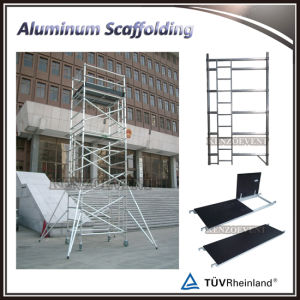 Double Width Adjustable Ladders Scaffolding Aluminium pictures & photos