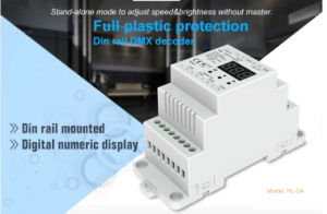 12-36VDC 5A*4CH LED DMX512 DIN Rail Mounted Decoder Hl-D4 pictures & photos