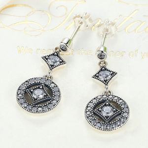 Jewelry Earrings AAA Zircon Round Long Earrings for Women pictures & photos