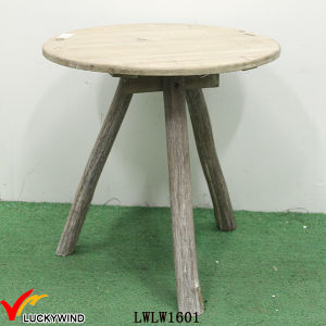 Knock Down Round Rustic Vintage Wooden Coffee Table Designs pictures & photos