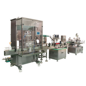 Bottle Shampoo Auto Filling Capping Labeling Printing Machine pictures & photos