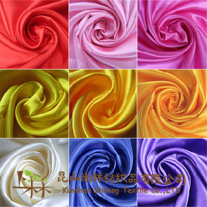 Polyester Satin Fabric 120G/M pictures & photos