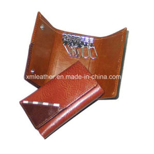 Leather Keychain Key Holder Wallet with Cion Pocket pictures & photos