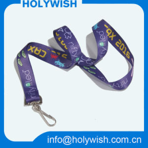 Popular Custom Promotional Nylon Anime Lanyard with Swivel Hook pictures & photos