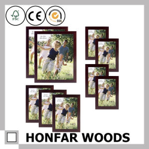 Custom Size Brown Wooden Picture Photo Frame for Home Decoration pictures & photos
