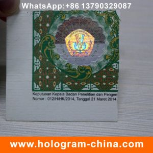 Custom Hot Stamped Paper Holographic Label pictures & photos