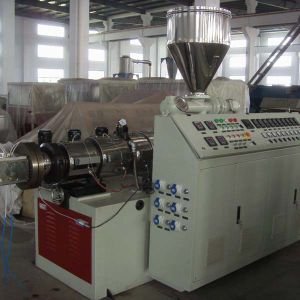 Wood Plastic Composite Extruder WPC Profile Production Line with Double Screw Extruder